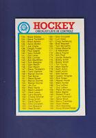 Checklist 133-264 (Unmarked) 1982-83 O-PEE-CHEE OPC Hockey #261 (EXMT+)