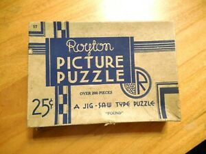 """COMPLETE VINTAGE ROYTON PICTURE PUZZLE, """"FOUND"""" JIG-SAW TYPE PUZZLE"""