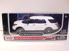 2015 Ford Explorer Police Interceptor Diecast Car 1:24 Motormax 8in Unmark Slick