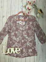 Mais il est ou le soleil? XL 16 pink semi sheer floral smart pretty long sleeve