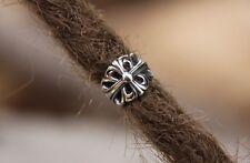 Stainless Steel 8mm 5/16' Hole Cross Dreadlock Bead Viking beard Dread beads