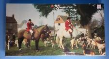"BNIB Vintage JUMBO Jigsaw Puzzle English Horse Countryside ""Drag Hunt"" 750 piece"