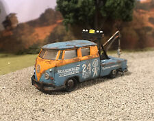 1960 Volkswagen Tow Truck Rusty Weathered 1/64 Diecast Barn Find Wrecker VW