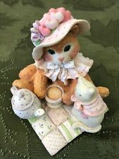 New 1994 Enesco Calico Kittens Love Pours From My Heart Original Box & Packing