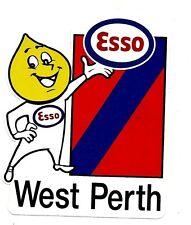 ESSO & WEST PERTH Decal Sticker PETROL afl vfl WAFL THE CARDINALS FOOTBALL CLUB