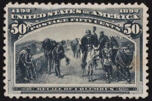 US Sc# 240 *MINT NO GUM H* { 50c RECALL OF COLUMBUS } COLUMBIAN FROM 1893 SERIES