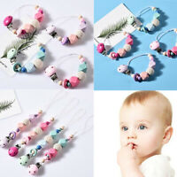 Newborn Product Soother Holder Baby Pacifier Chain Dummy Clasps Silicone Beads
