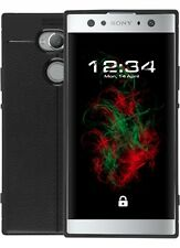 Funda acabado en piel para Sony Xperia XA2 ULTRA Negro Cubierta De Movil