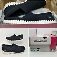 Skechers Go Walk Smart Black Slip On Low Walking Shoes Sneaker Women's Size 10