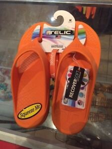 Telic Flip Flops Tangerine Various Sizes NWT Free Priority Shipping Made in USA