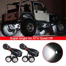 4X White 23mm LED Eagle Eye Lighting For ATV Quad 4x4 Off Road 12V
