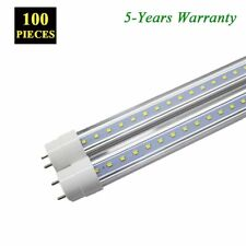 100X 4FT 18W T8 LED Light Tube Fluorescent Replacement Bulb CLEAR Lens 6000K