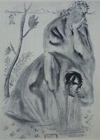 Salvador Dalí: Purgatorio 21 - Grabado Original Firmada # Divina Comedia #1960