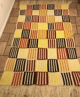 Granny Square Handmade Afgan Throw /Blanket 50w X 70Crochet Multi