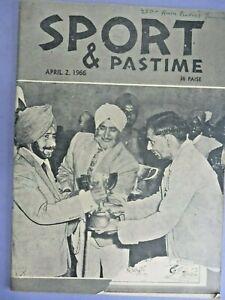 SPORTS & PASTIME MAGAZINE APRIL2,1966 Cover S.PRAHALAD SINGH GREWAL GOLDCUP RARE