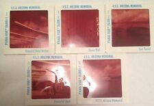 Set of 5 x Vintage 35mm Slides - U.S.S. Arizona Memorial - Pana-Vue Slides