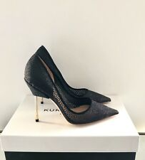 Kurt Geiger London Black High Heels Size 2 EU 35 Britton Bond Court Shoes New
