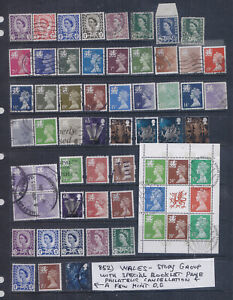 Great Britain Wales Study Group VF Used & Some Mint Lot #852