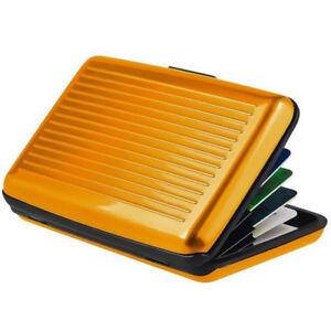 Waterproof Case Box Business ID Credit Card Wallet Holder Aluminum Metal Pocket