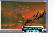 JOHN TAVOLTA SIGNED 1977 DONRUSS SATURDAY NIGHT FEVER #20 - TONY MANERO