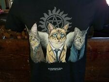 SUPERNATURAL Join The Hunt Cat Parody black medium t-shirt, TV series