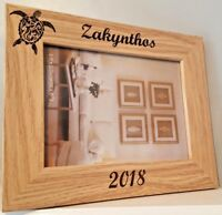 Personalised Photo Frame Family Holiday Laser Engraved