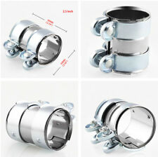 """Silver 2"""" Muffler Exhaust Clamp Staninless Steel Pipe Connector For Car Auto"""