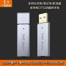 USB Mini Portable DAC Decoder amp HIFI Fever Sound Card SA9023A + ES9018K2M