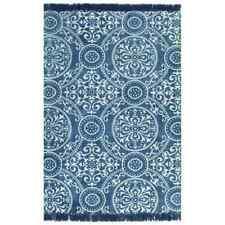 vidaXL Kelim Vloerkleed met Patroon 120x180 cm Katoen Blauw Vloer Kleed Mat