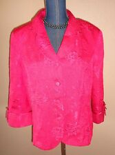 KORET Dress Pink Embossed Floral Career Top Jacket Size 18