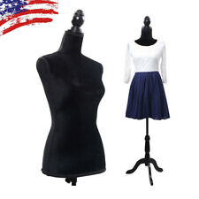 Half-length Lady Female Mannequin Torso Dress Clothing Display with Tripod Stand