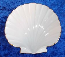 Vintage Lenox Porcelain Clam Shaped Bowl 24 K Gold Trim Aegean Collection (201)