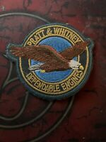 Pratt & Whitney (P&W) Vintage Iron on Dependable Engines Patch with Eagle Logo