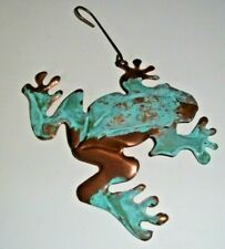 Frog Copper Verdigris Christmas Holiday Ornament Handcrafted
