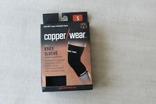 Copper Wear Supportive Athletic Compression Knee Sleeve,  Black S