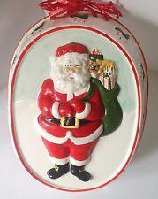 Vintage Christmas Santa Claus Cake Mold Decorative Wall Hanging Xmas Decor