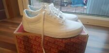 Womens Canvas All White Old Skool Vans Size 5