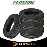 (4) New Federal SS657 205/60R14 89H Tires