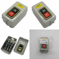 mxuteuk BS230B Push Button Switch On/Off Start Stop Self Lock Mechanical...