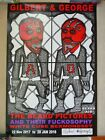 Gilbert & George SIGNED Poster from Fuckosophy Beard Pictures Exhibition 2017