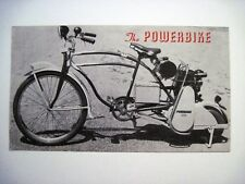 """Vintage """"Powerbike"""" Pamphlet w/ Picture of Woman on Bike *"""