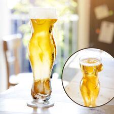 Sexy Bierglas Frauenkörper, Party Pilsglas Frau mit Brüsten, Frauentorso Glas