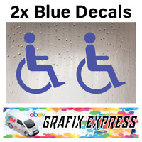 2X Disabled Disability Mobility Sticker For Car Home Shop Office Window Decal