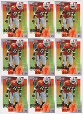 15 CARD ROOKIE LOT 2001 UPPER DECK MVP REGGIE WAYNE RC CARD #311