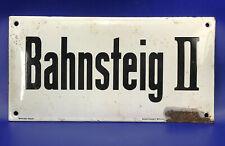 """Originales EMAILLESCHILD: --- """"Bahnsteig II"""" --- um 1920"""