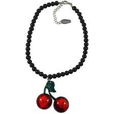 Kreepsville 666 Cherry Skull Black Necklace Punk Goth Halloween Horror Charm