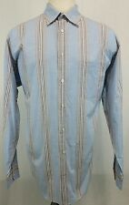 Robert Talbott Carmel Long Sleeve Button Front Shirt Blue Multi Striped 2XT