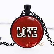 Valentine's Day Gift Glass Dome black Chain Pendant Necklace wholesale