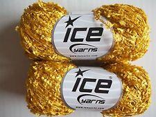 Ice Yarns Arado butterfly accent yarn, dark gold, lot of 2, (197 yds each)