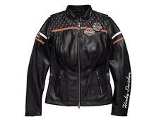 Harley-Davidson Miss Enthusiast EU Damen Leder Jacke Gr. XL-LADY Schwarz Orange